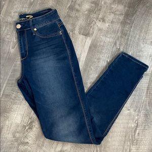Seven7 High Rise Skinny dark wash jeans - 6